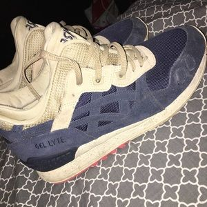 ASICS gel iii blue and tan with pink size 8 men's